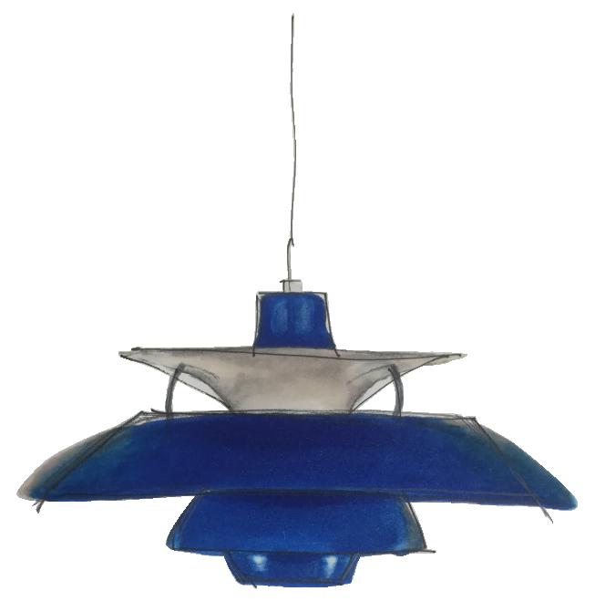 Dessin PH5 pendant light Poul Henningsen 1958