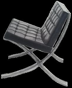 Dessin fauteuil Barcelona L Mies Van Der Rohe