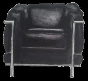 Dessin fauteuil LC2 Grand confort Le corbusier Jeanneret Perriand 1928
